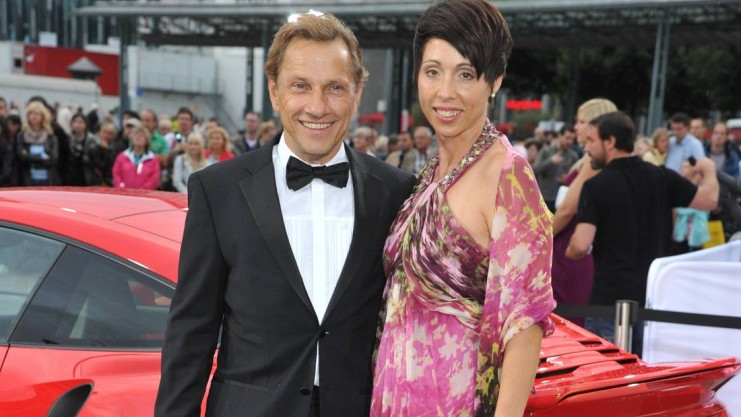 Richy Müller with friendly, Wife Christl Müller