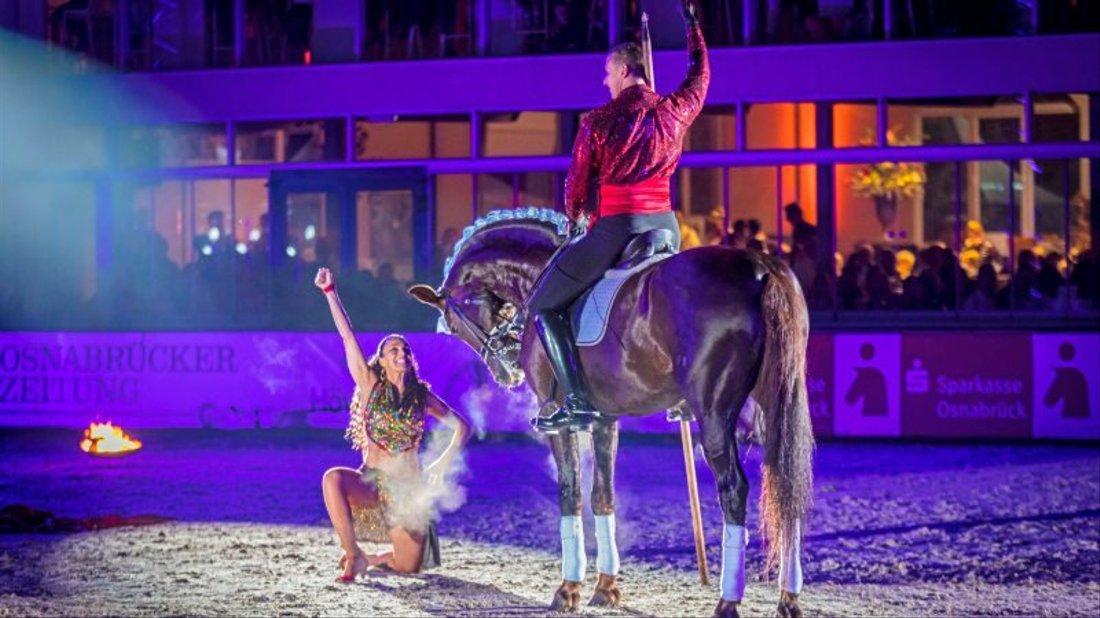 Horses  &  Dreams meets France Showprogramm am Samstag Abend. Foto: André Havergo