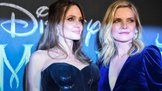 "US actress Angelina Jolie (L) and US actress Michelle Pfeiffer pose during the European premiere of Disney's dark fantasy adventure film ""Maleficent : Mistress of Evil"" on October 7, 2019 in Rome. (Photo by Tiziana FABI / AFP)"